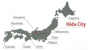 Hida City in Japan