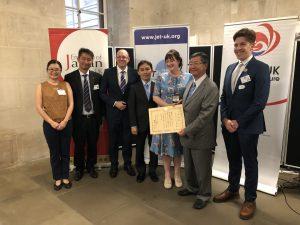 Sarah Parsons receives Ambassador's Commendation