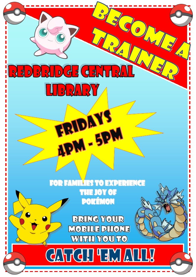 Pokemon Redbridge Central Library